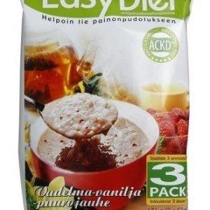 Ackd Easy Diet Vadelma-Vaniljapuuro 3-Pack