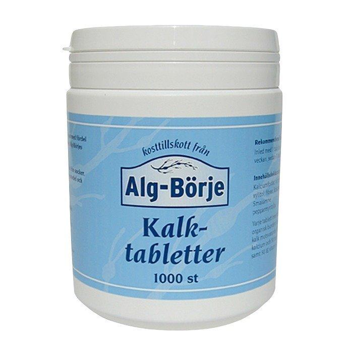 Alg-Börjes Kalkkitabletit 1000 tablettia