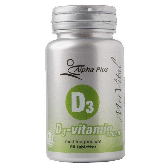 Alpha Plus D3-vitamiini MerVital 2500IE 90 tablettia