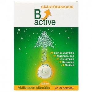 B-Active B-Vitamiini Poretabletti 3x20kpl