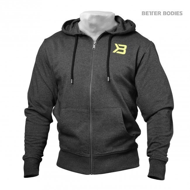 Better Bodies Antracite Jersey Hoodie