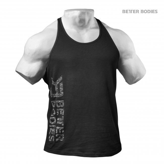 Better Bodies Black Symbol Printed t-back