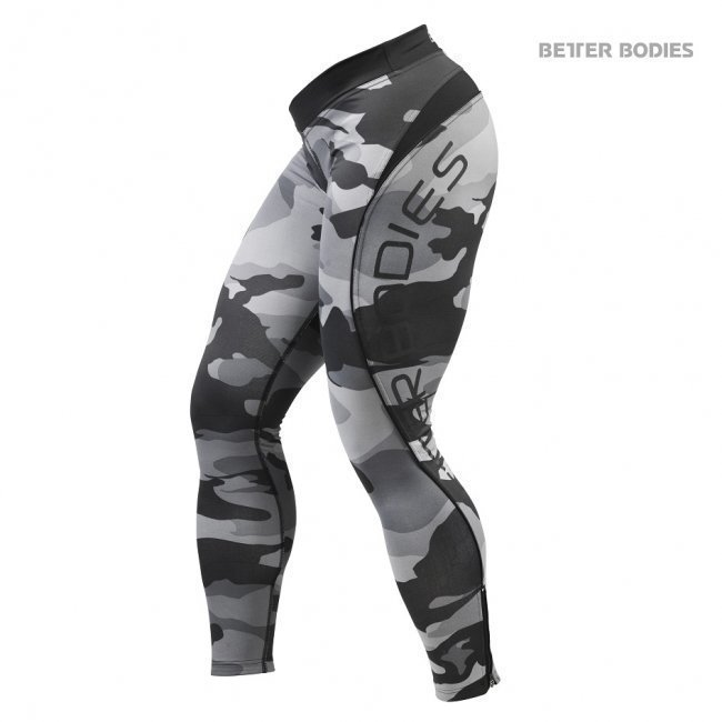 Better Bodies Camo Long Tights grey