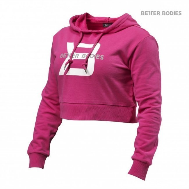 Better Bodies Cropped Hoodie pink