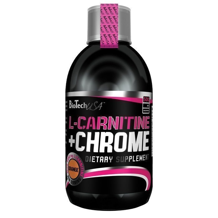Biotech USA L-Carnitine + Chrome 500 ml Orange