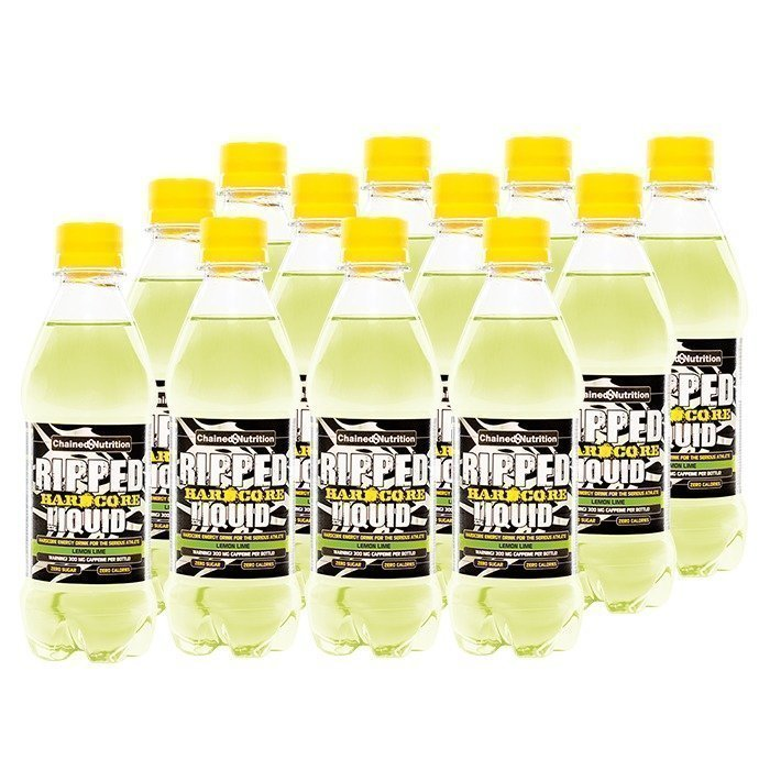 Chained Nutrition 12 x Ripped Hardcore Liquid 330 ml