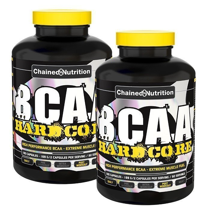 Chained Nutrition 2 x BCAA Hardcore 180 caps