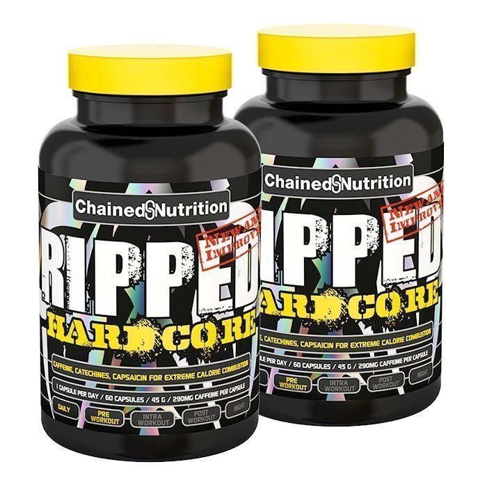 Chained Nutrition 2 x Ripped Hardcore 60 caps