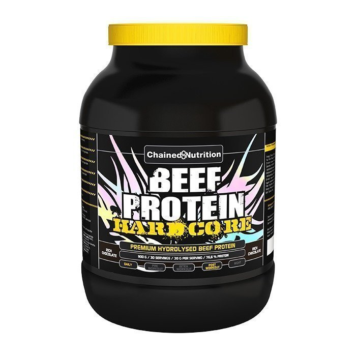 Chained Nutrition Beef Protein Hardcore 900 g Rich Chocolate