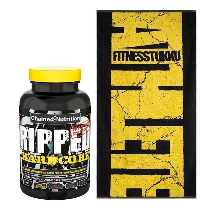 Chained Nutrition Ripped Hardcore 60 caps + Fitnesstukku Towel