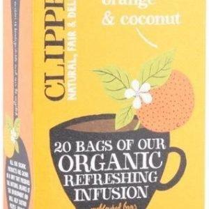 Clipper Luomu Appelsiini-Kookos Tee