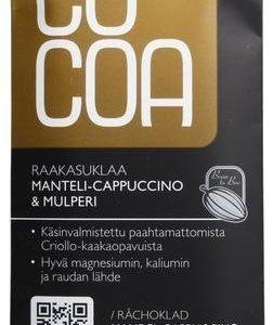 Cocoa Luomu Raakasuklaa Manteli-Cappuccino & Mulperi