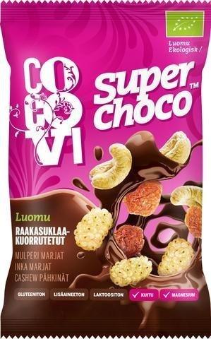 Cocovi Luomu Superchoco Raakasuklaakuorrutettu Mix