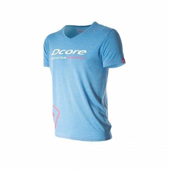 Dcore Tag Loose Miesten T-paita (sininen/punainen)