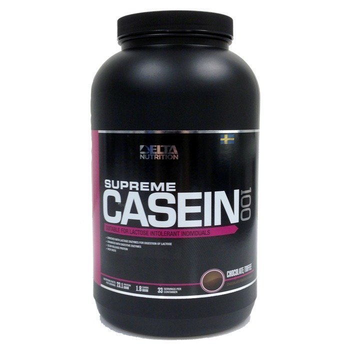 Delta Nutrition Supreme Casein 100 1000 g Chocolate Toffee