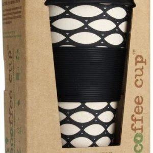 Ecoffee Cup Basket Weave Black