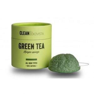 Ekovista Konjac Sponge Vihreä Tee