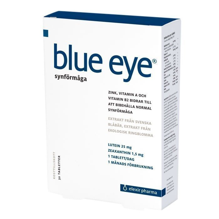 Elexir Pharma Blue Eye Mustikkauute 64 tablettia