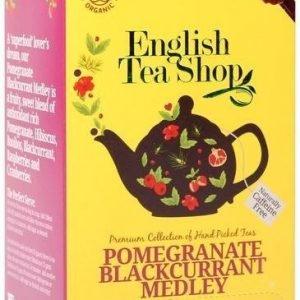 English Tea Shop Luomu Granaattiomena-Mustaherukkatee