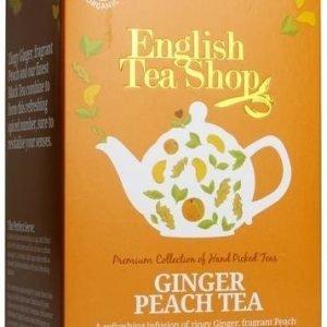 English Tea Shop Luomu Inkivääri-Persikkatee