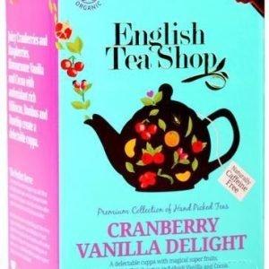 English Tea Shop Luomu Karpalo-Vaniljatee