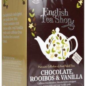 English Tea Shop Luomu Suklaa-Rooibos-Vanilja Tee