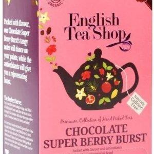 English Tea Shop Luomu Suklaa-Supermarjatee