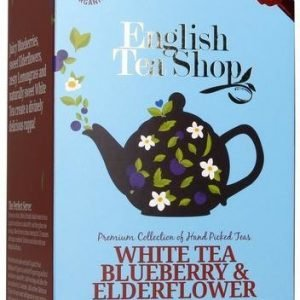 English Tea Shop Luomu Valkoinen Mustikkatee