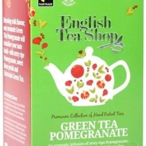 English Tea Shop Luomu Vihreä Granaattiomenatee