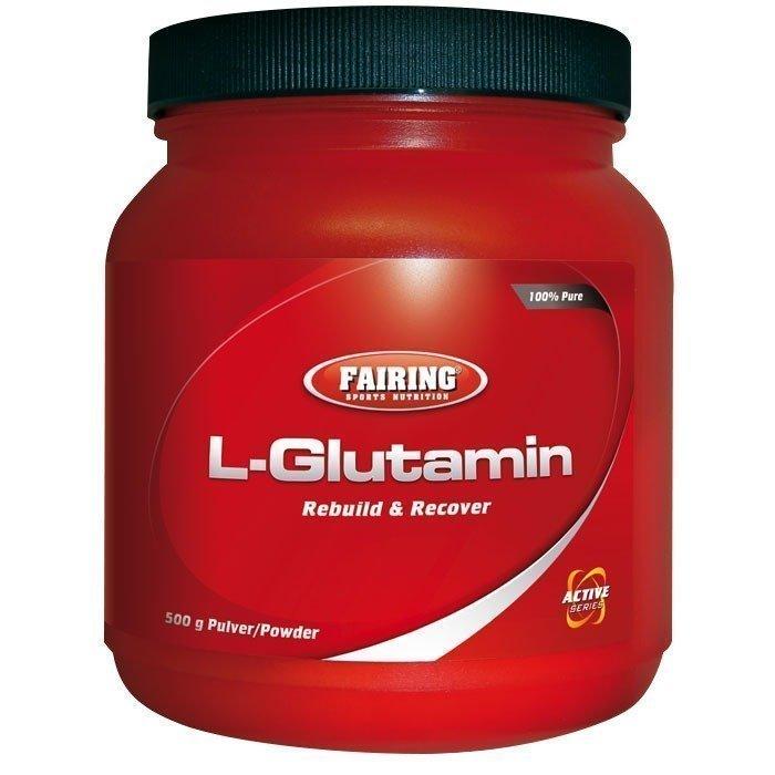 Fairing L-Glutamin 500 g Maustamaton
