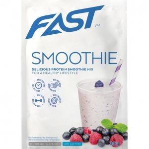 Fast Protein Smoothie Mix Mustikka-Vadelma