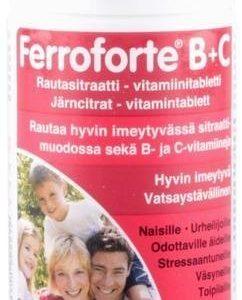 Ferroforte B + C Rautatabletit
