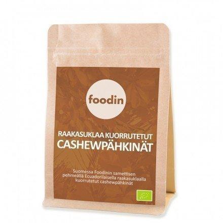 Foodin Raakasuklaa kuorrutetut Cashewpähkinät