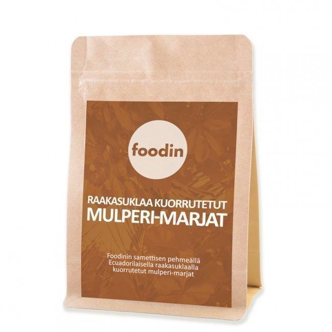 Foodin Raakasuklaa kuorrutetut Mulperi-marjat