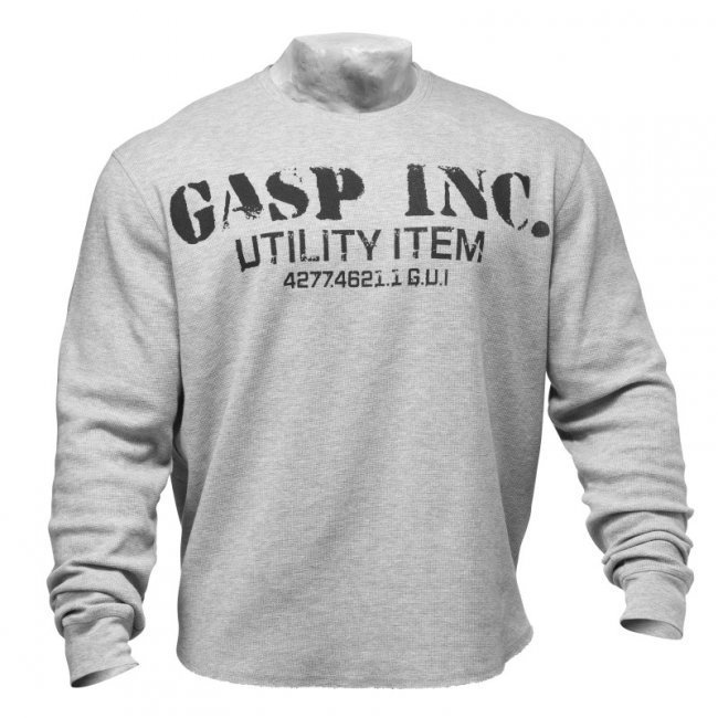 GASP Thermal Gym Sweater grey