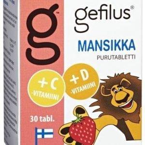Gefilus + D Purutabletti Mansikka
