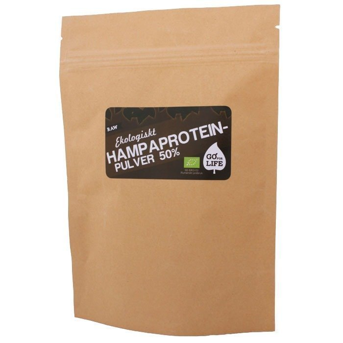 Go For Life Raw Hamppujauhe 50 % proteiinia 480 g