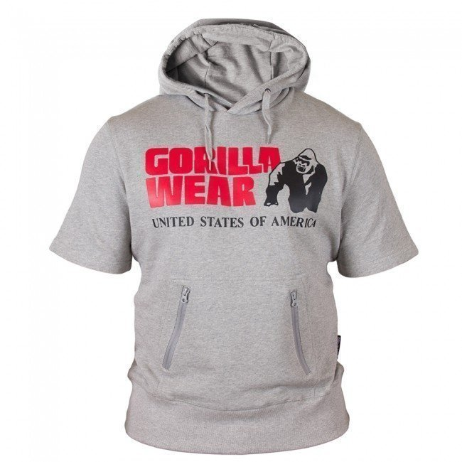 Gorilla Wear Boston Short Sleeve Hoodie harmaa