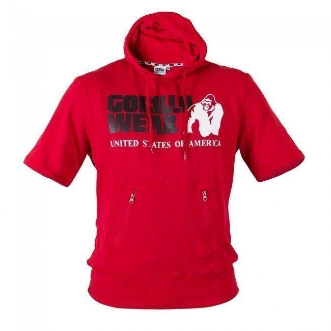 Gorilla Wear Boston Short Sleeve Hoodie punainen