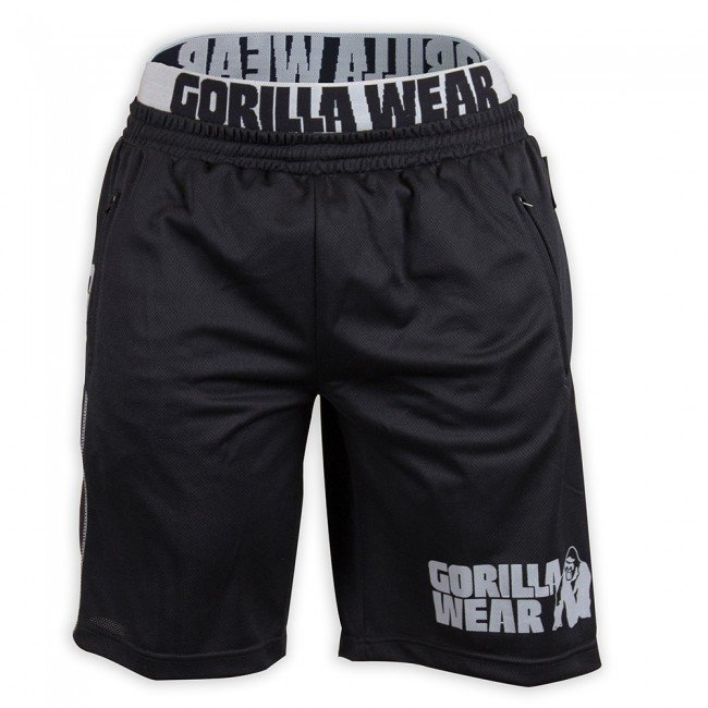 Gorilla Wear California Mesh shortsit musta-harmaa