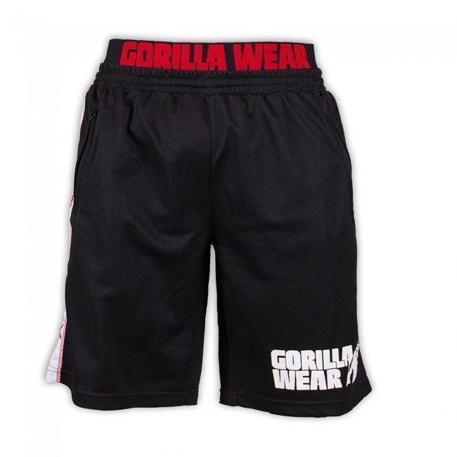Gorilla Wear California Mesh shortsit musta/punainen