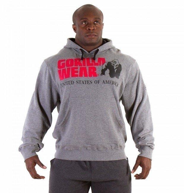 Gorilla Wear Classic Hooded Top harmaa