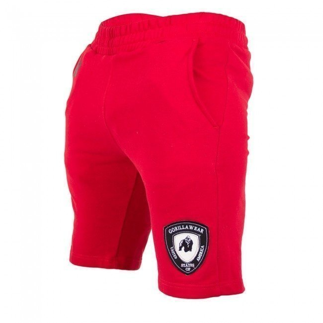 Gorilla Wear Los Angeles sweat shorts punainen
