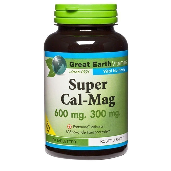Great Earth Super Cal-Mag 600/300 mg 100 tablettia