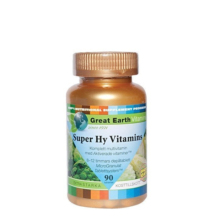 Great Earth Super Hy-Vitamins 90 tablettia