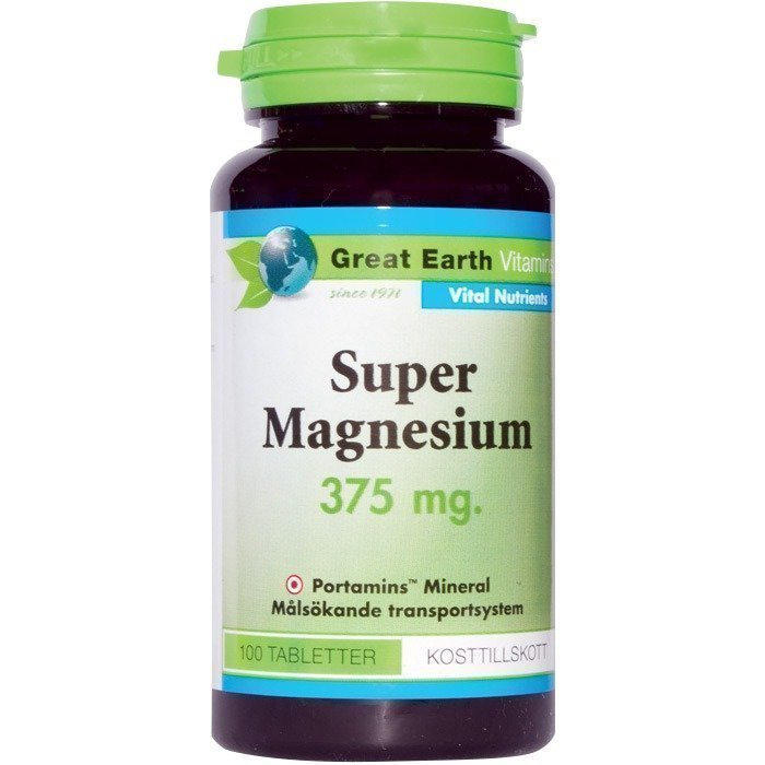 Great Earth Super Magnesium 375 mg 100 tablettia