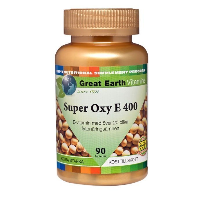 Great Earth Super Oxy-E 90 tablettia