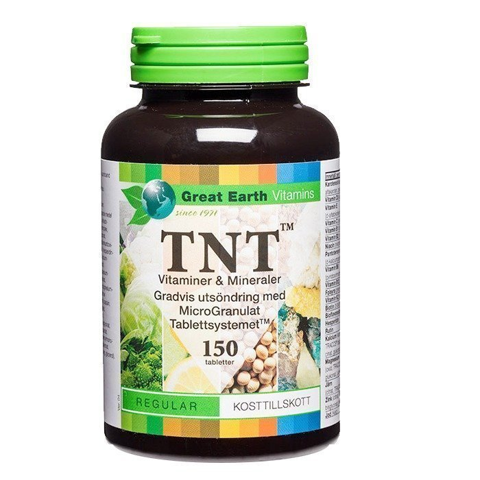 Great Earth TNT Multivitamiini Mineraali 150 tablettia