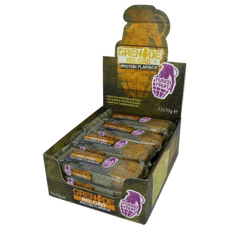 Grenade Reload Flapjack 12 X 70 G Bars Rasiat Fused Fruit