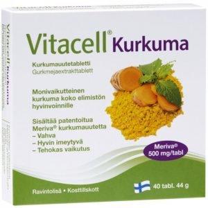 Hankintatukku Vitacell Kurkuma 40 Tablettia